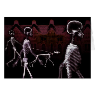 X-Ray Skeletons Midnight Stroll Card
