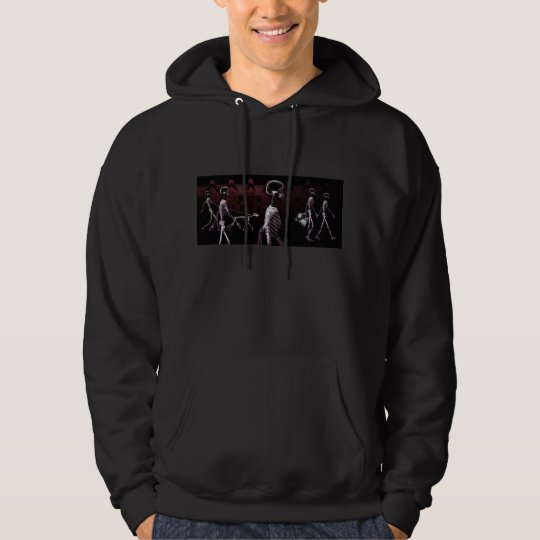 X-Ray Skeletons Midnight Stroll Hoodies