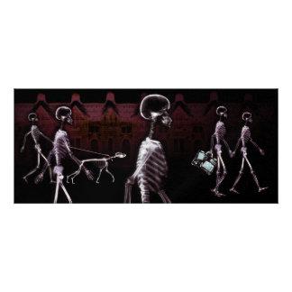 X-Ray Skeletons Midnight Stroll Invites