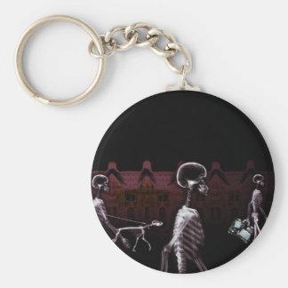 X-Ray Skeletons Midnight Stroll - Original Basic Round Button Keychain