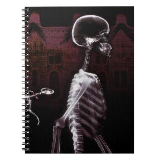 X-Ray Skeletons Midnight Stroll - Original Spiral Note Book
