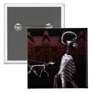 X-Ray Skeletons Midnight Stroll Pinback Button