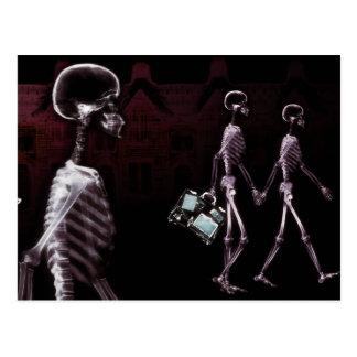 X-Ray Skeletons Midnight Stroll Post Card