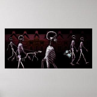 X-Ray Skeletons Midnight Stroll Poster