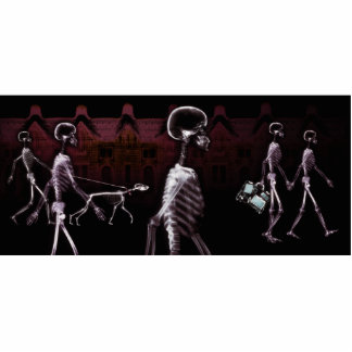 X-Ray Skeletons Midnight Stroll Statuette