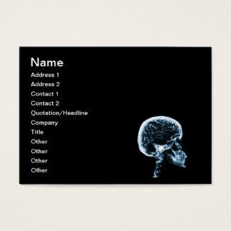X-RAY SKULL BRAIN - BLACK & BLUE BUSINESS CARD
