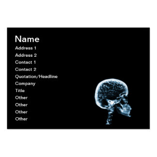 X-RAY SKULL BRAIN - BLACK & BLUE LARGE BUSINESS CARD