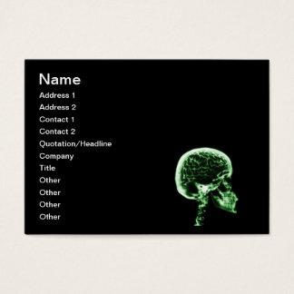 X-RAY SKULL BRAIN - BLACK & GREEN BUSINESS CARD