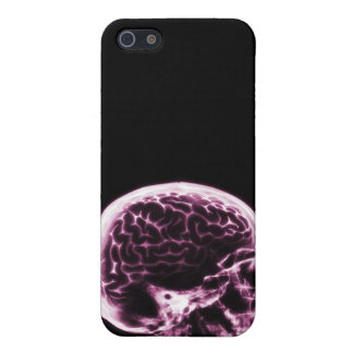 X-RAY SKULL BRAIN - BLACK & PINK COVER FOR iPhone SE/5/5s