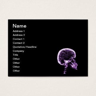 X-RAY SKULL BRAIN - BLACK & PURPLE BUSINESS CARD