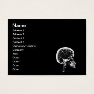 X-RAY SKULL BRAIN - BLACK & WHITE BUSINESS CARD