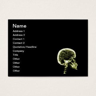 X-RAY SKULL BRAIN - BLACK & YELLOW BUSINESS CARD