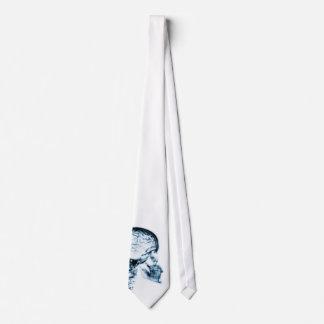 X-RAY SKULL BRAIN - BLUE NECK TIE