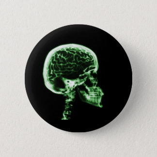 X-RAY SKULL BRAIN - GREEN BUTTON