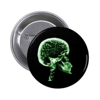 X-RAY SKULL BRAIN - GREEN BUTTON