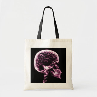 X-RAY SKULL BRAIN - PINK BUDGET TOTE BAG