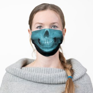 X-Ray Skull Cloth Face Mask