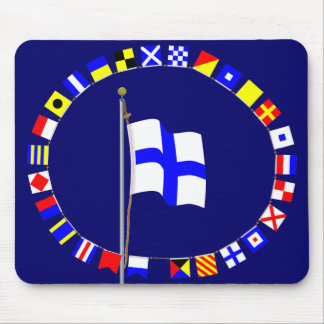 X-ray Stop Your Intention Nautical Signal Flag Mouse Pad