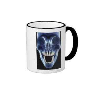 X-ray style look at human teeth ringer mug