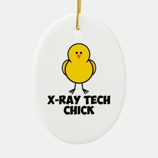 X Ray Tech Chick Ceramic Ornament