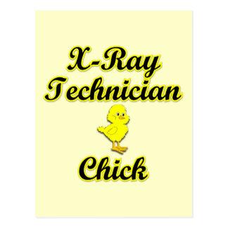 X-Ray Tech Chick Postcard