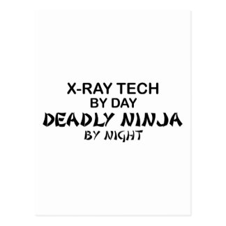 X-Ray Tech Deadly Ninja Postcard