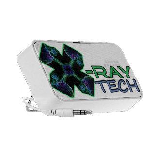 X-ray Tech (Multi-color/Green) tote bag Speaker
