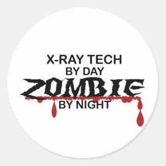 X-Ray Tech Zombie Classic Round Sticker