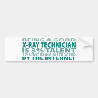 X-Ray Technician 3% Talent Car Bumper Sticker