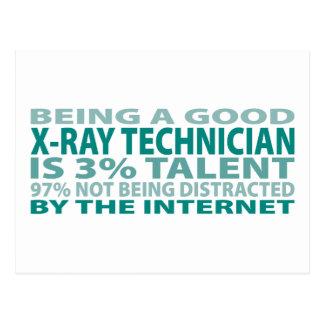 X-Ray Technician 3% Talent Postcard