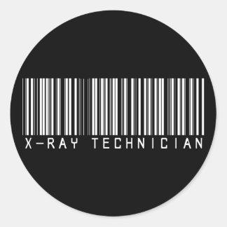 X-Ray Technician Bar Code Classic Round Sticker