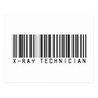 X-Ray Technician Bar Code Postcard