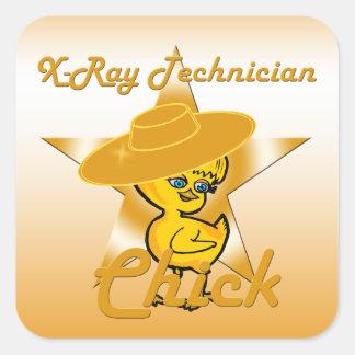 X-Ray Technician Chick #10 Square Sticker
