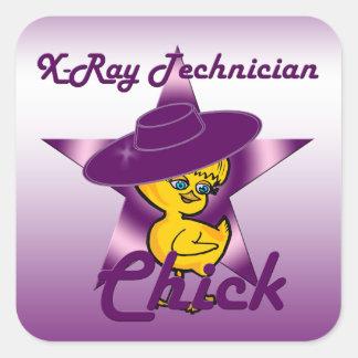 X-Ray Technician Chick #9 Square Sticker