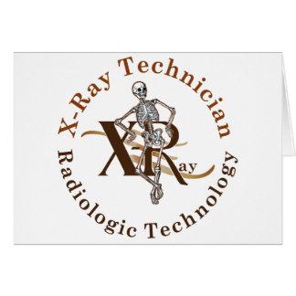 X Ray Technician Circle Brown Card
