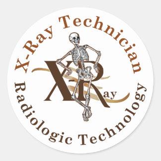X Ray Technician Circle Brown Classic Round Sticker