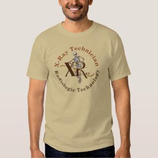 X Ray Technician Circle Brown T-shirts