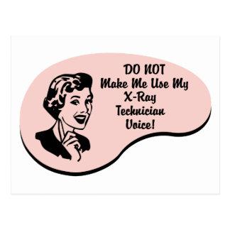 X-Ray Technician Voice Postcard