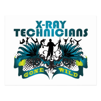 X-Ray Technicians Gone Wild Postcard