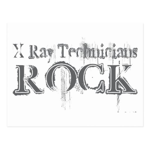 X-Ray Technicians Rock Post Cards
