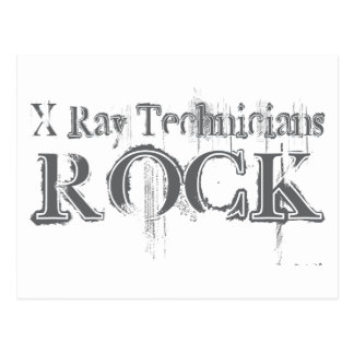X-Ray Technicians Rock Postcard