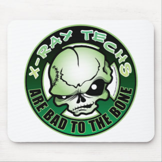 X-Ray Techs Bad To The Bone Mouse Pad