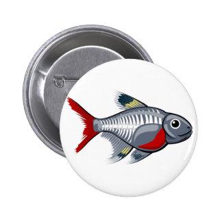 X-ray tetra cartoon fish pins