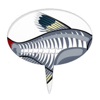 X-ray tetra cartoon fish cake toppers