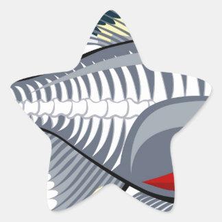 X-ray tetra cartoon fish sticker