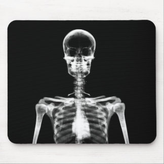 X-Ray Vision B&W Single Skeleton Mouse Pad