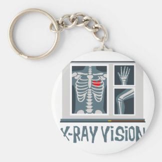 X-Ray Vision Basic Round Button Keychain