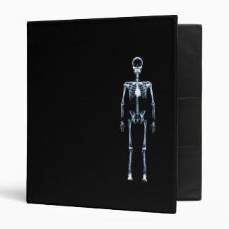 X-Ray Vision Blue Single Skeleton 3 Ring Binder