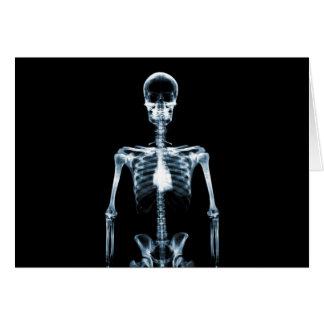 X-Ray Vision Blue Single Skeleton Card