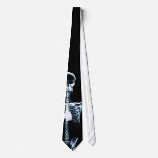 X-Ray Vision Blue Single Skeleton Neck Tie